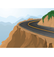 Curves and deep abyss vector image