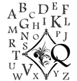 alphabet of capital letters vector image