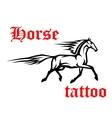 Galloping arabian horse sketch drawing vector image