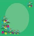 card summer flowers and ladybug vector image