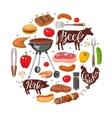 BBQ Essentials Round Composition vector image