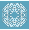 Blue Indian ornament vector image