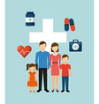 family health care design vector image