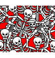 Hell seamless pattern Skeleton in Sinners vector image
