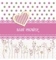 Lovely baby shower vector image