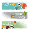 Sports horizontal banners with soccer football vector image