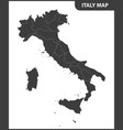 the detailed map of the italy with regions vector image