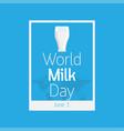 world milk day icon vector image