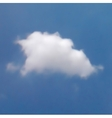White cloud in the blue sky vector image vector image