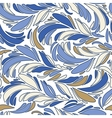 Blue seamless texture with feathers vector image vector image