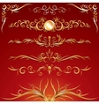 Golden Ornamental Design Elements Graphics vector image vector image