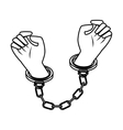 handcuffs police isolated icon vector image