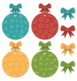 christmas labels vector image vector image