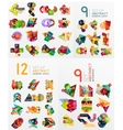Colorful abstract geometric layouts mega vector image vector image