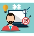 Business work and solutions vector image