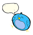 cartoon bird with speech bubble vector image