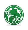 Eco design Green icon Isolated vector image