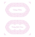 Eastern pink arabic lines design templates vector image vector image