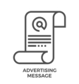AD message vector image