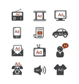 Advertisement icons vector image