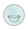 color crayon silhouette happy face male emoticon vector image