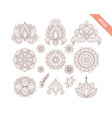 decorative hand drawn element henna style vector image