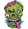 Detailed Zombie Head vector image