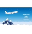 Flat travel banner vector image