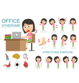 Infographic Office Syndrome Woman vector image
