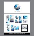 Corporate identity logo vector image