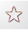 modern star with confetti on white vector image vector image