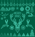 Geometric low poly Christmas set vector image vector image