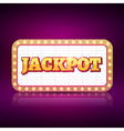 Jackpot banner symbol Casino game neon sign of vector image