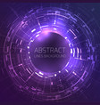 techno background with round frame for your text vector image