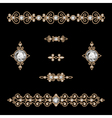 Jewelry decor vector image