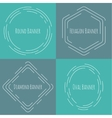 Set framework for multi colored backgrounds vector image