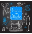Sewing Chalboard Set vector image