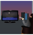 The person watching TV vector image
