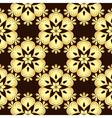 Seamless brown vintage pattern vector image