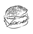 big burger on white vector image