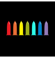 Condom rainbow icon set Protection Black vector image