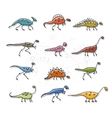 Dinosaurs collection sketch for your design vector image