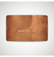 vintage card with grunge cardboard texture vector image