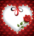 Heart from beads with a rose inside vector image vector image