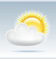 Sun with cloud floats in the sky vector image vector image