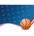 Basketball background with stars vector image