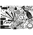 time - abstract vector image