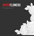 paper flowers background with place for text vector image