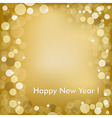 Happy New Year Golden Background vector image vector image