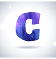 Watercolor letter C vector image vector image